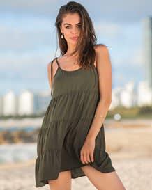 boho spaghetti strap beach dress--MainImage