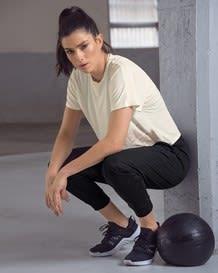 short sleeve cropped active shirt - activelife-018- Ivory-MainImage