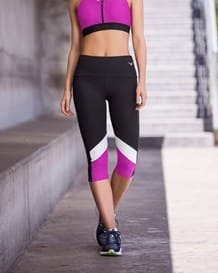 color block slimming athletic capri-700- Black-MainImage