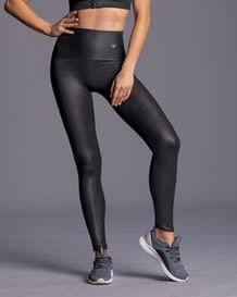 leather look high-waisted compression legging - activelife-700- Black-MainImage