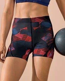 short corto deportivo ajustado y ligero con comodo elastico en cintura-712- Negro Estampado-MainImage
