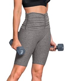 activelife ruched mid-thigh shaper short--MainImage
