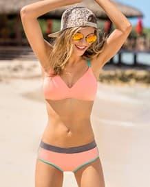 bikini de tres piezas con camiseta-215- Tangerine-MainImage