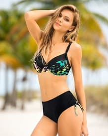midnight tropical triangle structured bikini swimsuit with adjustable side bottom-700- Black-MainImage