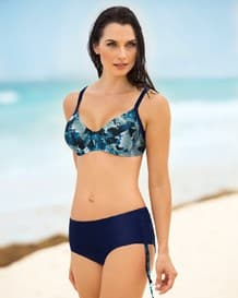 darling underwire high-waisted bikini bathing suit-509- Blue-MainImage