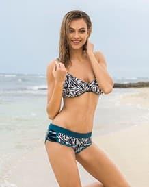 3-piece bikini bathing suit with tank top and boyshort panty-700- Black-MainImage