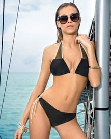 bikini triangular con malla y acabado brillante-700- Black-MainImage