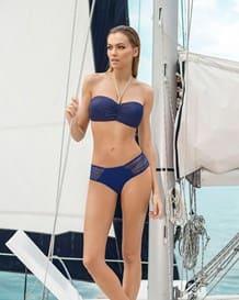 bikini bandeau de acabado brillante-536- Blue-MainImage