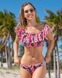 bikini de manga corta con boleros y panty convencional-307- Pink-MainImage