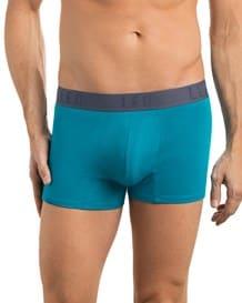 paquete por 2 boxers cortos leo en algodon elastico-S28- Wine/Green-MainImage