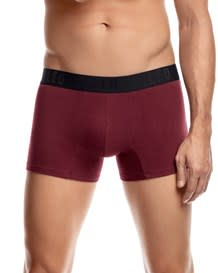 elastische leo shorts aus baumwolle 2er pack-S31- Wine/Stripes-MainImage