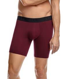 paquete x 2 boxers largos en algodon ajustado-S37- Wine/Blue-MainImage
