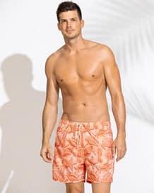 pantaloneta para hombre estampada-203- Coral-MainImage