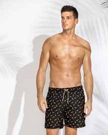 mens loose fit swim trunks-700- Black-MainImage