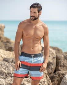 pantaloneta estampada con bolsillos laterales y malla interna-547- Blue-MainImage