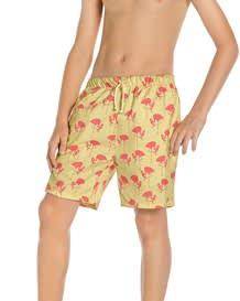pantaloneta semiajustada para nino-122- Pink Flamingos-MainImage