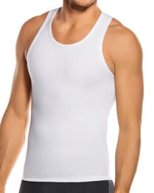 mens compression tank top - cotton blend-000- White-MainImage