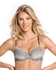push up bra with multiway straps-080- Printed Gray-MainImage