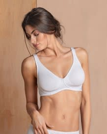 wireless triangle bra with supportive design-000- White-MainImage