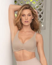 wireless triangle bra with supportive design-802- Nude-MainImage