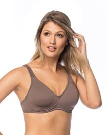 wireless triangle bra with supportive design-868- Mocha-MainImage