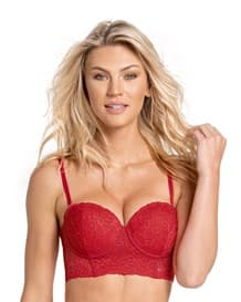 classic lace balconet underwire bustier bra--MainImage