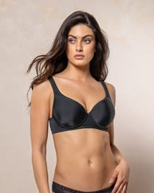 underwire triangle bra with high coverage cups-700- Black-MainImage