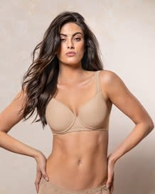 underwire triangle bra with high coverage cups--MainImage