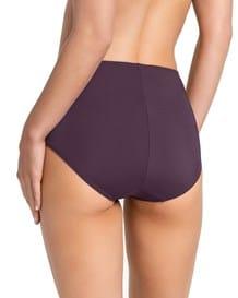 panty clasico de control suave con toques de encaje en abdomen-349- Wine-MainImage