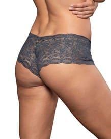 hiphugger style panty in modern lace-735- Dark Grey-MainImage