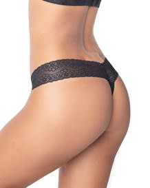 delicate low rise thong in lace-700- Black-MainImage