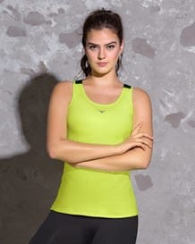 sports tank top-622- Lemon Green and Black-MainImage