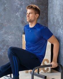 camiseta deportiva de secado rapido y cortes laser-464- Blue-MainImage