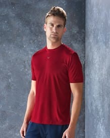 camiseta deportiva semi ajustada de secado rapido-357- Red-MainImage