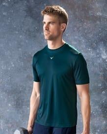 camiseta deportiva semi ajustada de secado rapido-563- Green-MainImage