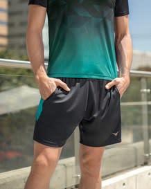 pantaloneta deportiva corta con bolsillos y silueta amplia-711- Gray-MainImage