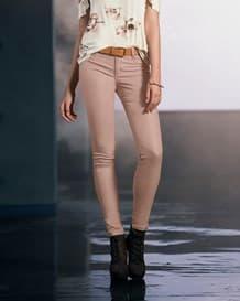 pantalon skinny de acabado brillante-318- Pink-MainImage