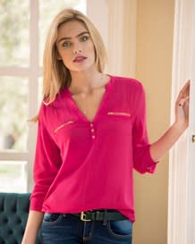 blusa manga larga fuchsia con cierres-380- Fuchsia-MainImage