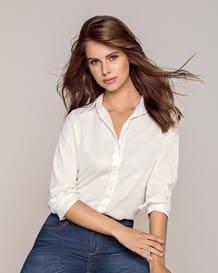blusa manga larga semi-ajustada en algodon-000- White-MainImage