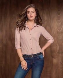 blusa manga larga silueta semi ajustada-180- Pink-MainImage
