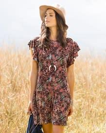 vestido corto manga corta floral-145- Printed-MainImage