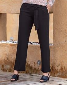 pantalon con tira para anudar-700- Black-MainImage