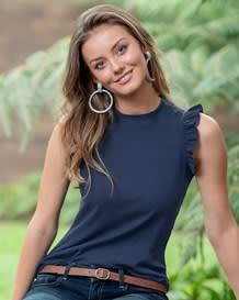 camiseta manga sisa tejido acanalado-567- Blue-MainImage
