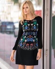 vestido manga larga floral-700- Black-MainImage