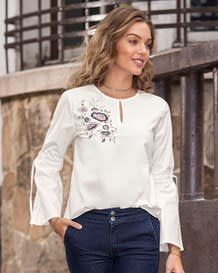 blusa bordado en frente manga larga-134- White-MainImage