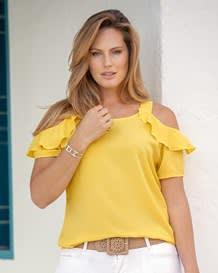 blusa tiritas con escote en hombros-152- Yellow-MainImage