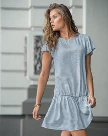 vestido manga corta estampado-077- Gray-MainImage