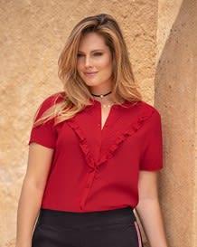 blusa manga corta roja-323- Red-MainImage