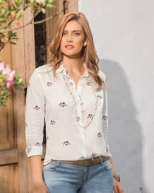 blusa manga larga botones con flores-077- Flowers-MainImage