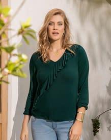 camiseta manga larga con elastico-601- Green-MainImage